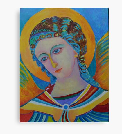 Archangel Gabriel oil painting Canvas Print