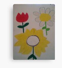 Oil Pastel Flower Picture Canvas Print