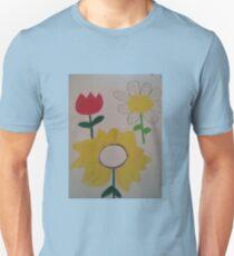 Oil Pastel Flower Picture Unisex T-Shirt