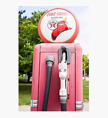 Historic gasoline pump, Sky Chief Photographic Print