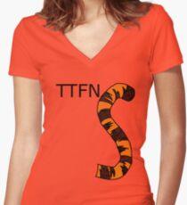 ttfn Women's Fitted V-Neck T-Shirt