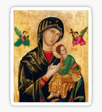 Our Lady of Perpetual Help, Russian orthodox icon, Madonna and Child, Virgin Mary  Sticker