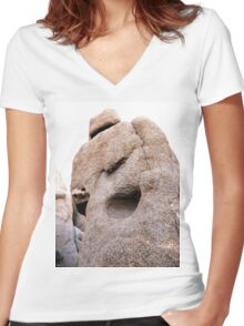 Nature is a natural Sculpture Women's Fitted V-Neck T-Shirt