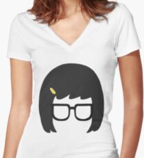 Tina Silhouette Women's Fitted V-Neck T-Shirt