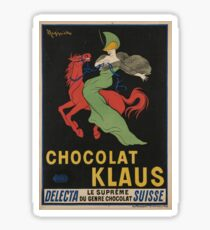 Vintage poster - Chocolat Klaus Sticker