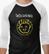 Drop Dead Fred Smiley Face Men's Baseball ¾ T-Shirt
