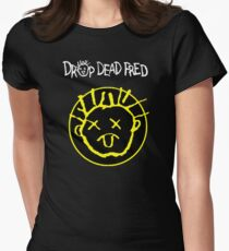 Drop Dead Fred Smiley Face Womens Fitted T-Shirt