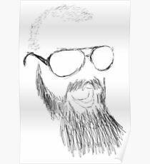 epilepsy awareness beard Poster