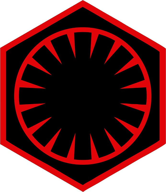 the first order logo stickers by geekomic redbubble
