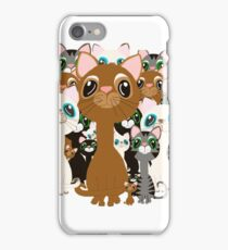 Herd of cats  iPhone Case/Skin