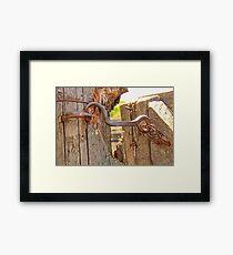 The Gate Latch Framed Print