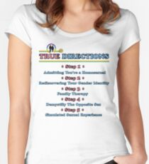 True Directions (But I'm a Cheerleader) Women's Fitted Scoop T-Shirt