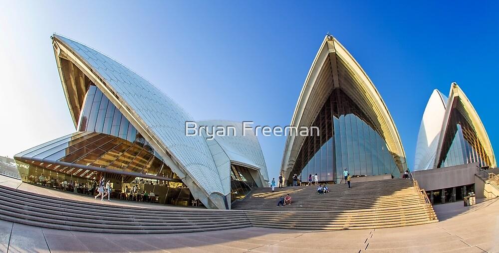 Wide-eyed Sydney Opera House - Australia by Bryan Freeman