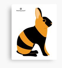 Black Japanese Rabbit Canvas Print