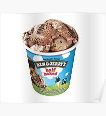 Half Baked Ice Cream Poster