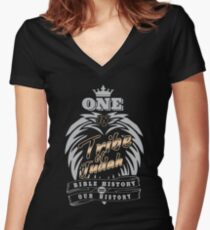 ONE In Tribe of Judah | Bible History = Our History Women's Fitted V-Neck T-Shirt