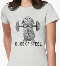 Buns of Steel (Light) Women's Fitted T-Shirt