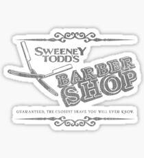 Sweeney Todd's Barbershop Sticker