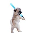 Pug with Lightsaber by whistle48sho