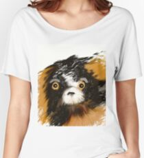 Black and Tan Puppy   Women's Relaxed Fit T-Shirt