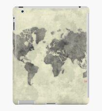 World Map Black Vintage iPad Case/Skin