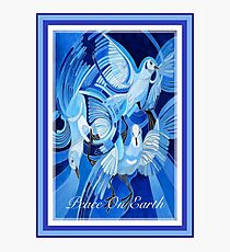 Peace On Earth Greetings With Doves Photographic Print