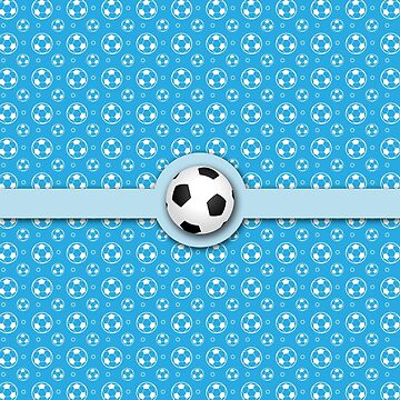 Football Soccer Ball Sport Athletics Fun Blue Pattern by beverlyclaire