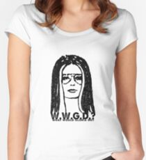 W.W.G.D.?: WHAT WOULD GLORIA DO? Women's Fitted Scoop T-Shirt