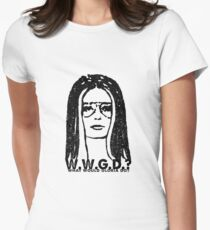 W.W.G.D.?: WHAT WOULD GLORIA DO? Women's Fitted T-Shirt