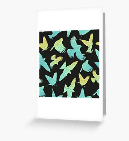 - Paper birds pattern - Greeting Card