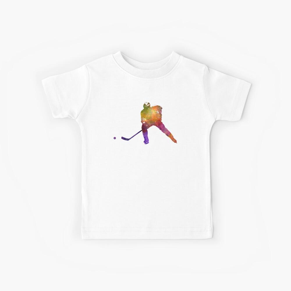 Hockey-Skater im Aquarell Kinder T-Shirt