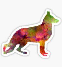 German Sherpherd dog 01 watercolor Sticker