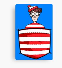 Wally / Waldo is in my pocket Canvas Print