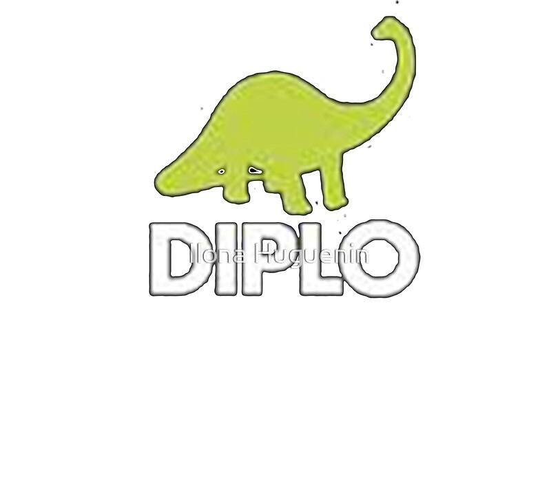 Diplo Dinosaur Logo Black And White