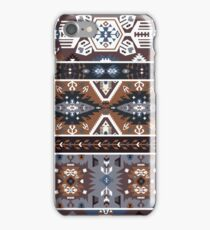 Decorative noir pattern in tribal style iPhone Case/Skin