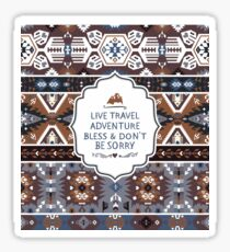 Decorative noir pattern in tribal style Sticker