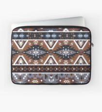 Decorative noir pattern in tribal style Laptop Sleeve