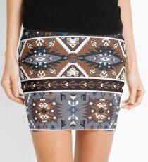 Minifalda Patrón decorativo noir en estilo tribal