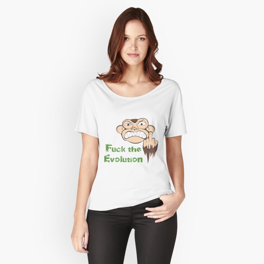 Wütende Affe Fuck The Evolution... Loose Fit T-Shirt