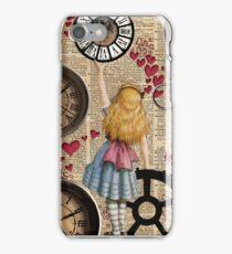 Alice In Wonderland Travelling in Time iPhone Case/Skin