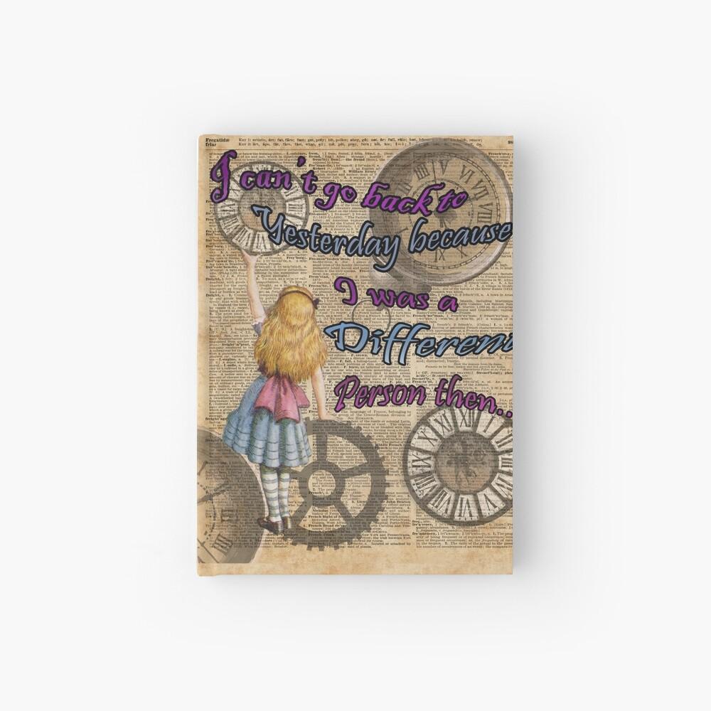 Alicia en el país de las maravillas viajando en el tiempo Cuaderno de tapa dura