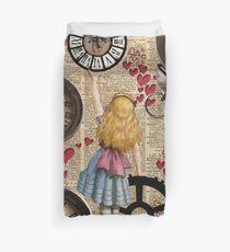Alice im Wunderland in der Zeit reisen Bettbezug