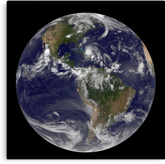 Lienzos 24 De Agosto De 2011 Vista Satelital De La Tierra Llena