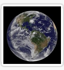 Full Earth with Hurricane Irene visible on the United States East Coast. Sticker
