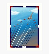 Flight of Concorde Art Print