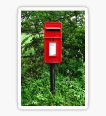Red UK Letterbox Painting Sticker