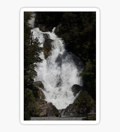 Wonderful Wide Waterfall - NZ  Sticker