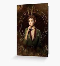Capricorn Zodiac fantasy edition Greeting Card