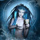 Aquarius Zodiac Fantasy Circle by Britta Glodde