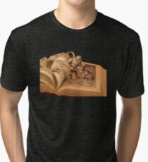 Pilgrim's Progress book art Tri-blend T-Shirt